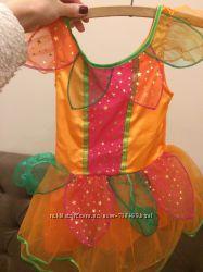 Оранжевое платье 3-4 года Хеллоуин морковка тыква