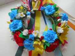 Красивейший веночек в украинском стиле из фоамирана