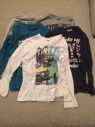 Набор футболок  с длинным рукавом для мальчика на 8 лет 5 штук