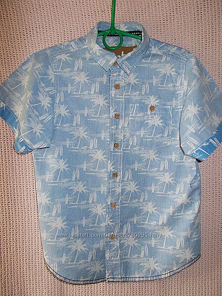 Рубашка летняя на мальчика, Rebel, размер 8-9 лет