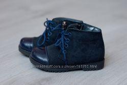 Демісезонні ортопедичні черевички Bistfor 24 р натуральні замша і шкіра