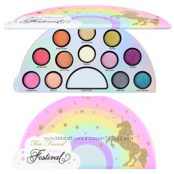 Тени и хайлайтер Too Faced Life&acutes a Festival Palette, палетка теней