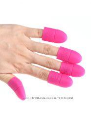 Колпачки силиконовые для снятия гель-лака и акрила, колпачки для ногтей