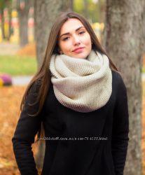 Теплые шарфы-снуды разных цветов