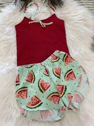 Стильные хлопковые пижамы для девочек рост 134-164