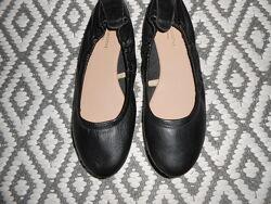 Кожаные балетки, туфли, woolworths, новые