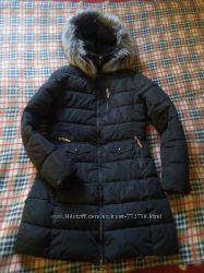 Женский теплый пуховик, зимняя куртка удлиненная