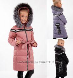 31dfdbd9678 Зимнее пальто полупальто Lusiming 91803 для девочки 116-140