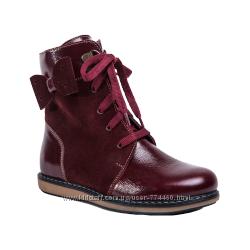 Ботинки демисезонные кожаные на девочку р26-31 Берегиня