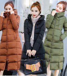 Зимняя куртка -пальто с капюшоном