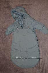 фирменный комбинезон конверт куртка 0-4 мес