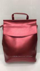 Кожаный женский рюкзак- сумка