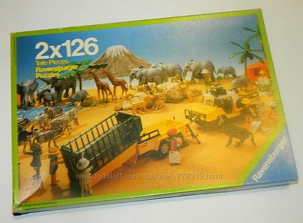Пазлы Ravensburger Playmobil 2х126 винтаж