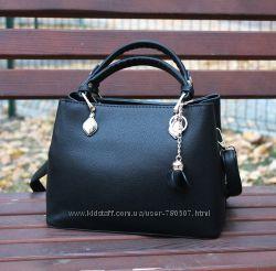 кожаная сумка с подвеской