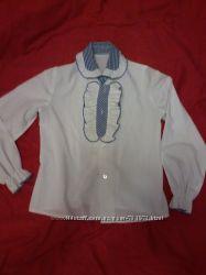 Белая рубашка, блузка в школу