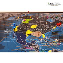 Cкретч карта світу Marine Discovery EN