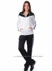 Спортивный костюм adidas оригинал черный с белым
