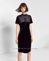 МЕГА актуальное платье гольф Zara бархатное платье миди