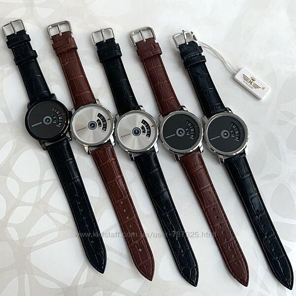 Мужские наручные часы искусственная кожа Kingnuos на ремешке из эко-кожи
