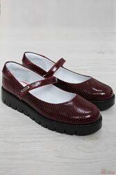 Туфли бордового цвета для девочки Bartek 35, 36, 31 размеры