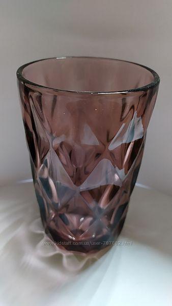 Стаканы разные цвета , толстое стекло 350мл.