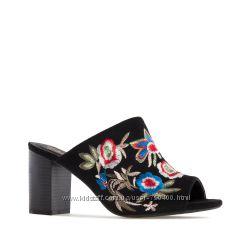 Andres machado 32 размер черные мюли босоножки на широком каблуке