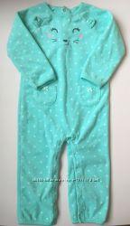 Флисовый ромпер, пижама, комбинезон, человечек carter&acutes