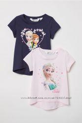 H&M набір футболок Ельза. Розміри 122-128  134-140