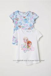 H&M набір футболок Ельза. Розміри 110-116  122-128  134-140