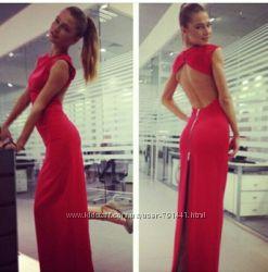 Шикарное дизайнерское платье с открытой спиной