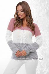 Стильный вязаный женский свитер кофта. Есть цвета