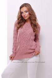 Красивый однотонный свитер кофта недорого