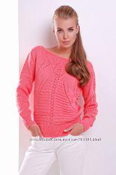 Красивый вязаный женский свитер кофта