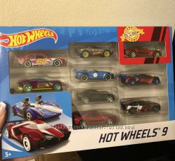 Набор машинок Hot Wheels, 9 шт