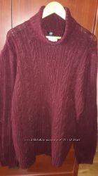 Новый свитер бордового цвета H&M размер ХЛ