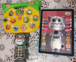Телефон котофон, сенсорный планшет кот Том, музыкальная игрушка