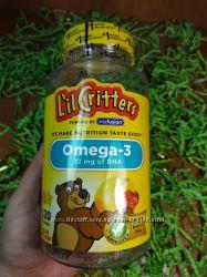 Lil Critters Омега-3  желейные конфеты 120 шт