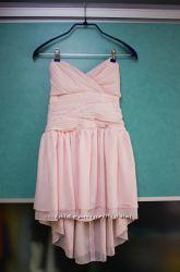 Платье котельное бюстье пудрового цвета