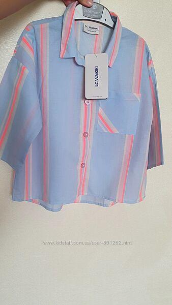 Классная рубашечка lc waikiki на 8-9 лет