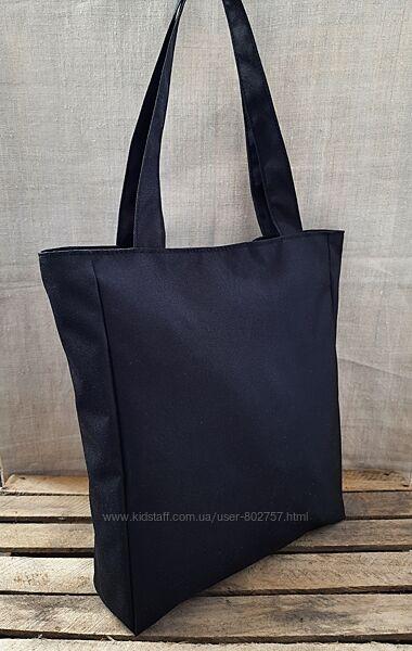 Сумки шопперы торбы женские под А4 молния  недорого черные бордо Украина