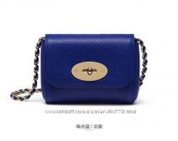 Синяя яркая мини сумка crossbody из натуральной кожи