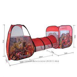 Детская палатка с тоннелем супергерои 3791