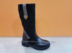 Зимние кожаные сапожки Tobi 161-04