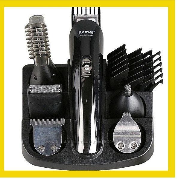 Машинка триммер для стрижки волос KEMEI KM-600 11 В 1  Подставка
