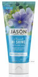 Натуральный гель для укладки волос на основе семян льна пантенола Jason США