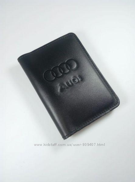 Кожаная обложка на автодокументы Audi