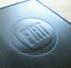 Кожаная обложка на автодокументы Fiat