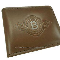 Кожаный кошелек Bitcoin