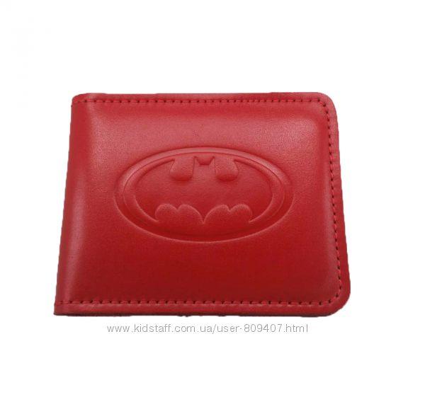 Кожаный кошелек Бетмен