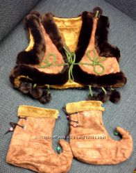 Карнавальный новогодний костюм гнома, медвежонка и другие варианты на 4 -7